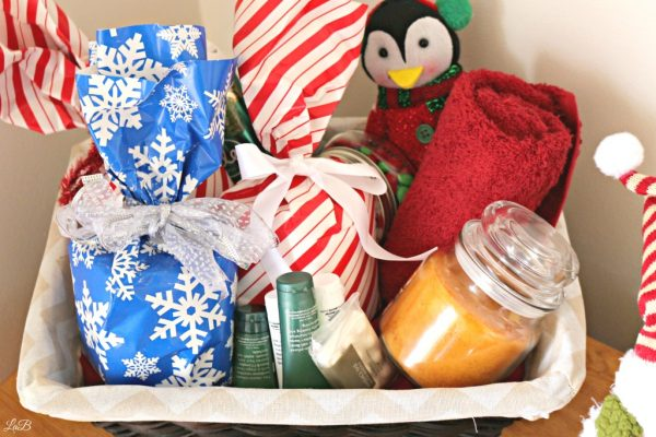 Holiday Toiletry Basket for Guests