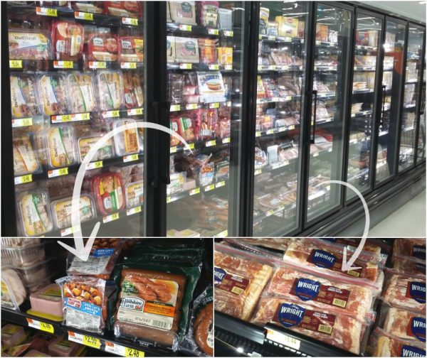 Lit'l Smokies and Bacon at Walmart