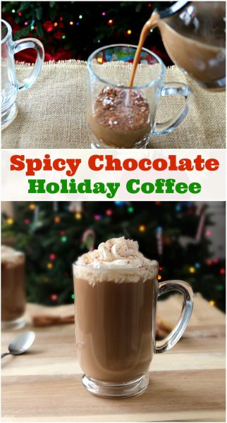 A spicy chocolate coffee recipe to get you through the holidays! Check out this easy, spicy holiday coffee recipe. It's chocolaty, spicy and will hit the spot! #MakeHeartburnHistory