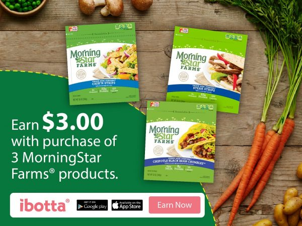 When you buy any 3 MorningStar Farms® products at Walmart, you will earn $3.00! *Offer available through 2/15/17 or while supplies last.