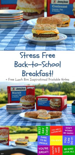 Easy and stress free breakfast for the back-to-school season! Plus get free inspirational lunch box notes! Check it out!