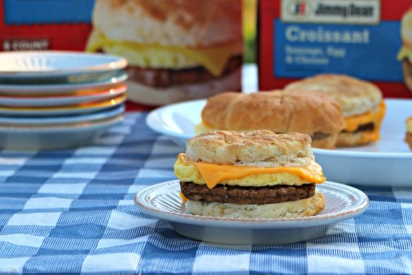 Sausage Egg and Cheese Biscuit Sandwich from Jimmy Dean