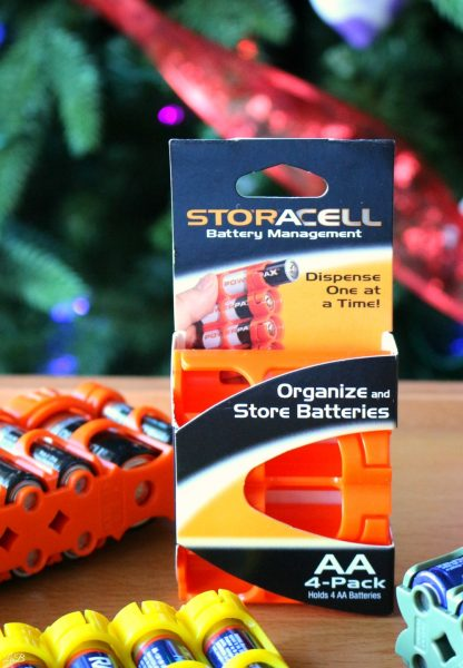 Organize all of your batteries with Storacell, the easy battery container to hold all of your household size batteries!