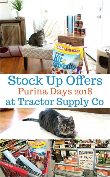 Stock up now at Tractor Supply Co. during the Purina Days savings event! Find an insert in your paper from 3/28 to 4/2 with savings on all of your favorite Purina products!