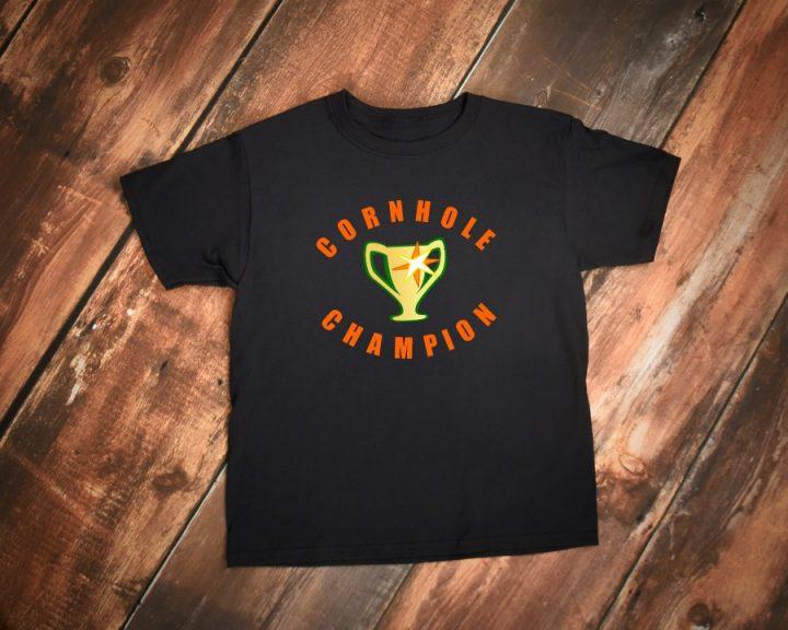 Cornhole game winner, 1st place, champion t shirt