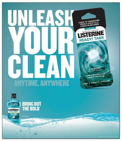 Try Listerine® Ready! Tabs for free with purchase of special Listerine® Mouthwash at your local Rite Aid store. #UnleashYourClean #ReadySwishGo #Listerine