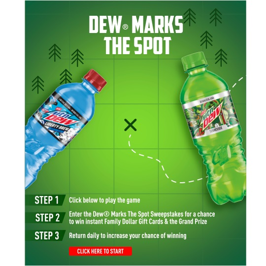 #DewMarksTheSpot Sweepstakes