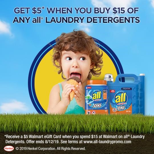 all Laundry Offer at Walmart