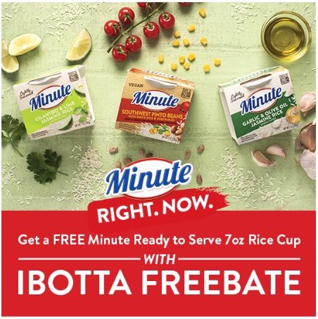Ibotta Minute Rice Freebate Coupon Deal Freebie
